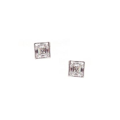 0.75 CTW ASSCHER CUT DIAMOND EARRINGS