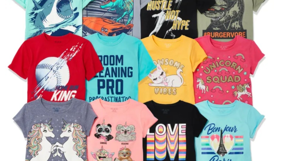 t shirts from the children's place