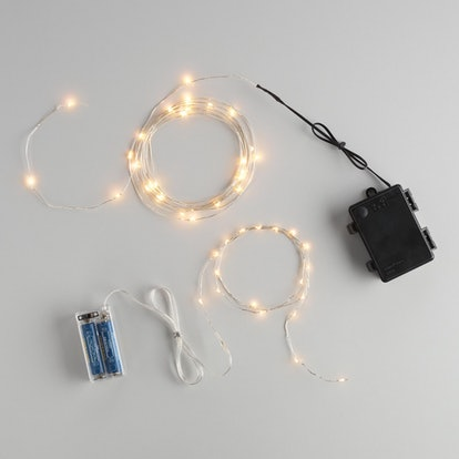White Micro LED Battery Operated String Lights, 30-bulb String