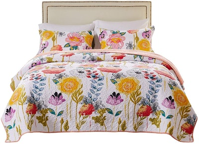 Greenland Home Watercolor Dream Quilt Set (3-Piece)