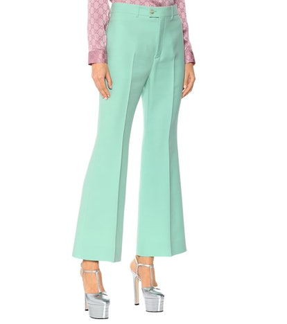 High-Rise Flared Cady Pants