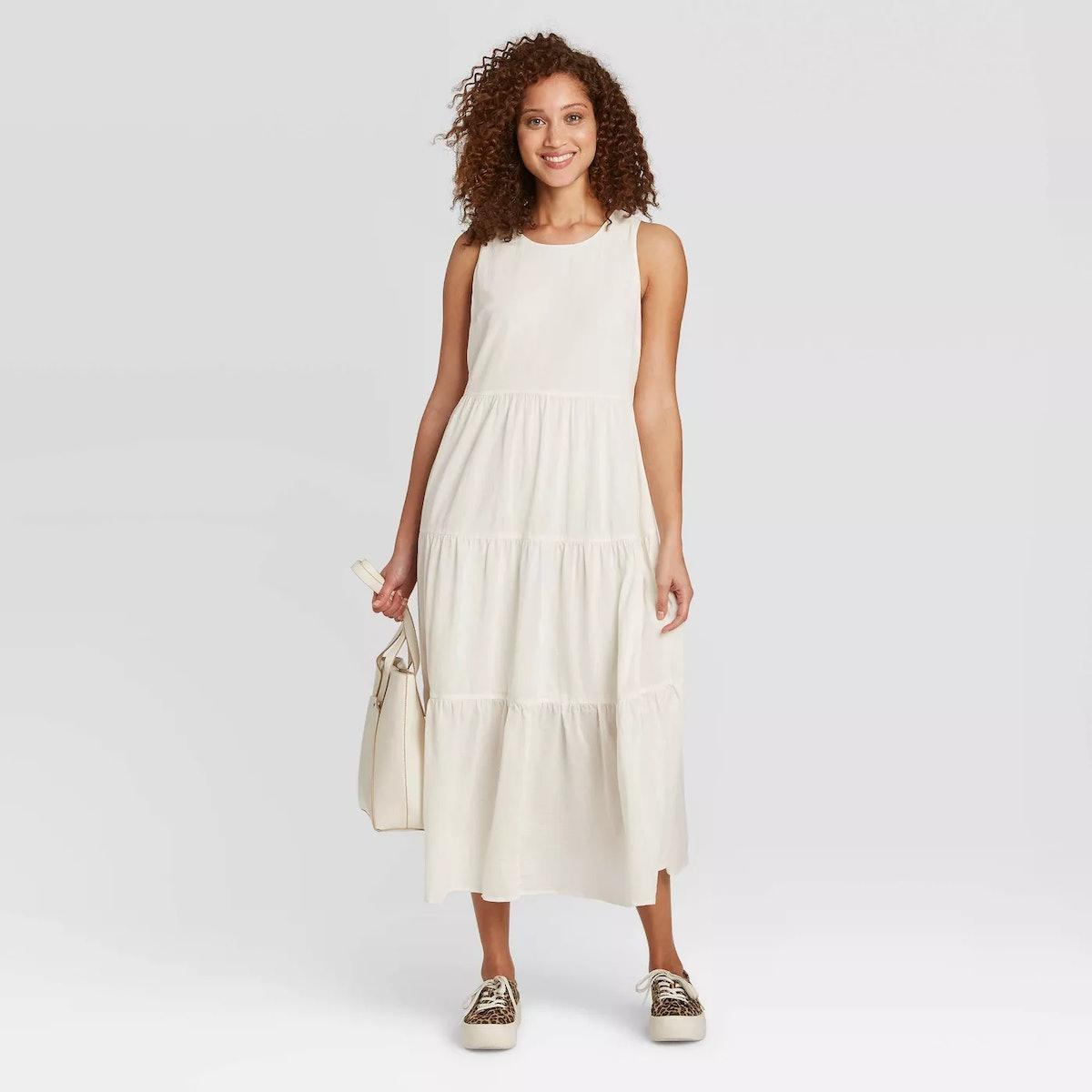 A New Day Women's Sleeveless Tiered Dress