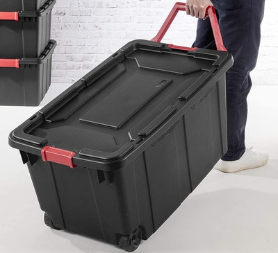 STERILITE Wheeled Industrial Tote (2-Pack)
