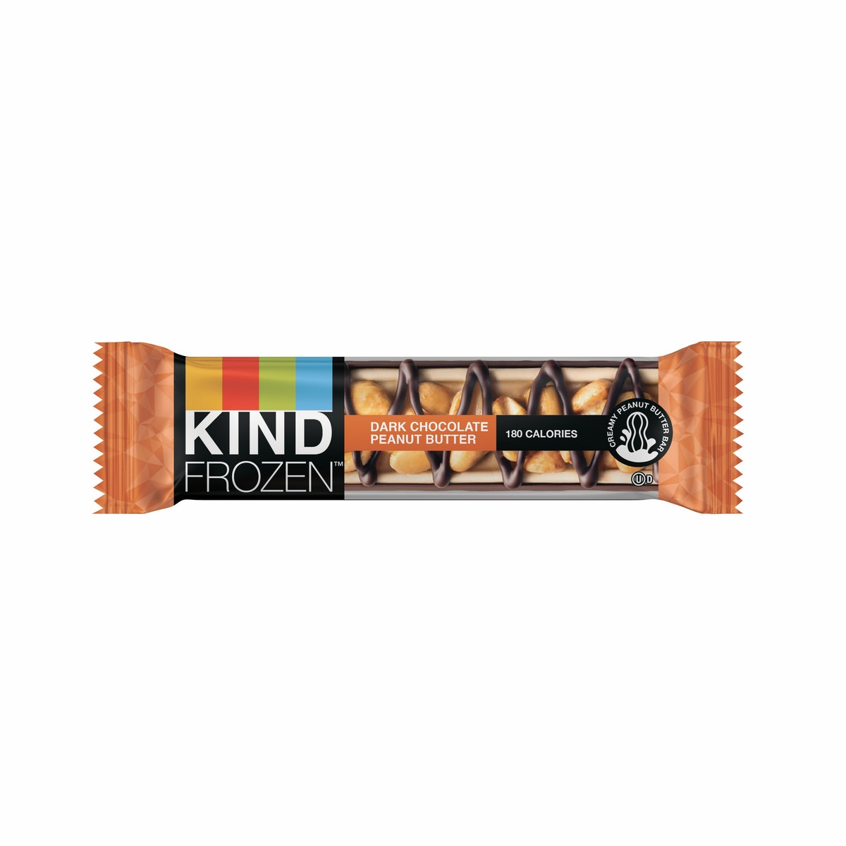 These Kind Frozen Bar flavors include 2 options, like Dark Chocolate Peanut Butter.