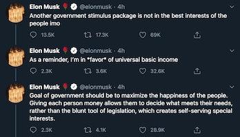 A twitter thread by Elon Musk.