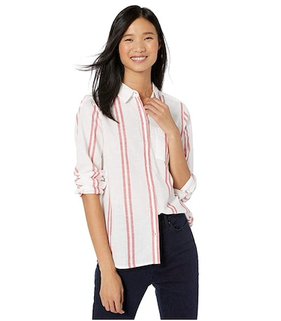Goodthreads Women's Washed Cotton Boyfriend Shirt