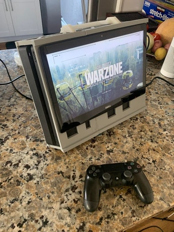 """The front of a """"portable"""" PlayStation 4 rig."""