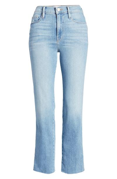 Frame Le Sylvie High Waist Raw Hem Crop Jeans