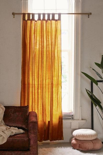 Crushed Velvet Window Curtain (Gold)