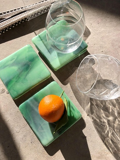Limited Batch Marbled Glass Coaster (Set of Four)
