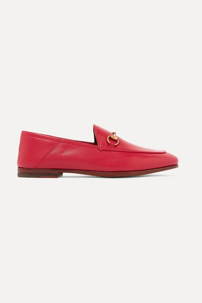 Brixton horsebit-detailed leather collapsible-heel loafers