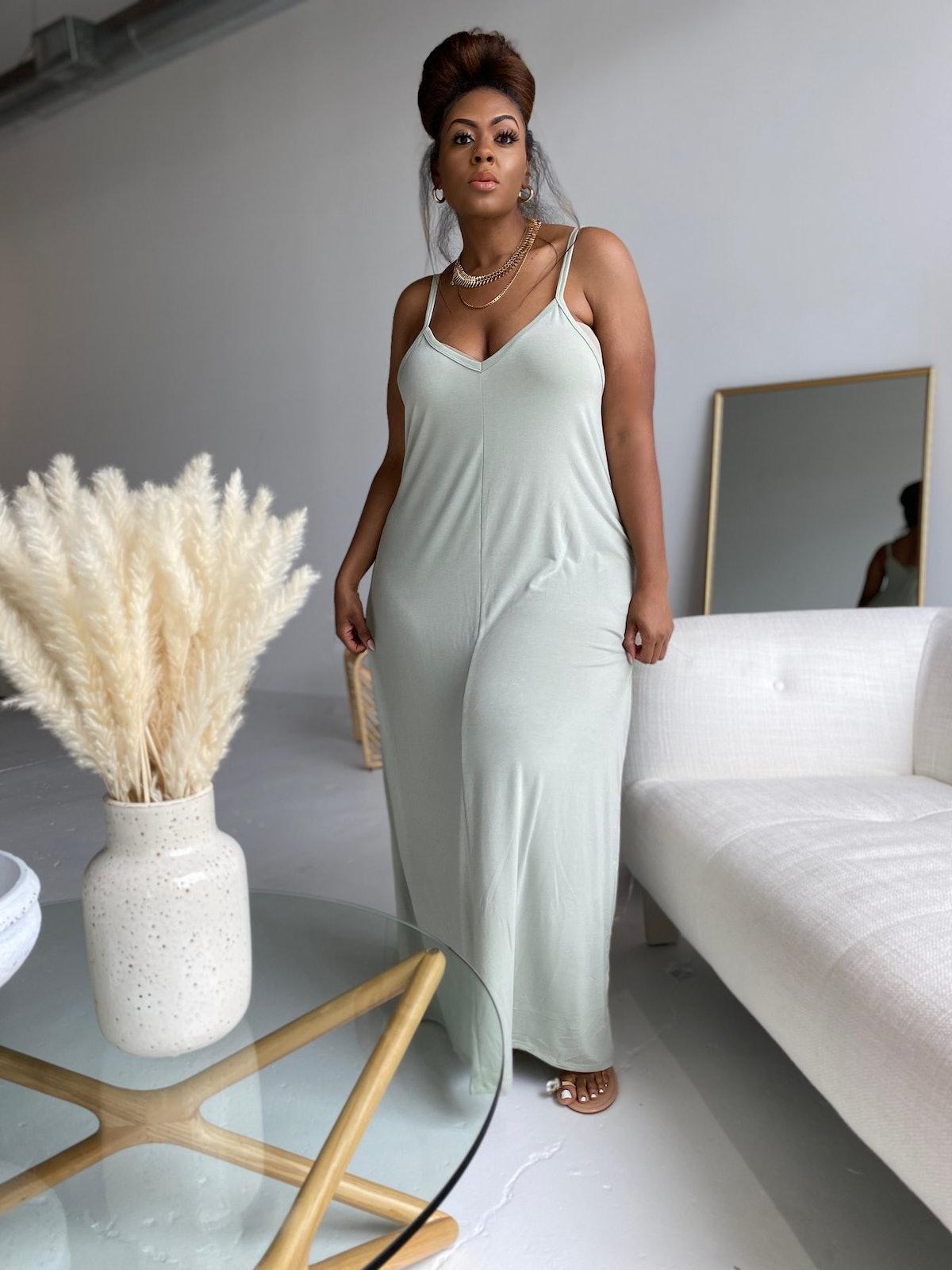 Curverra Summer Daze Soft Sage Dress