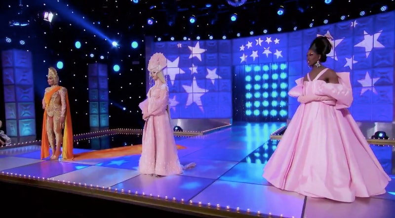 The 'Drag Race: All Stars' queens waiting to find out the winner.