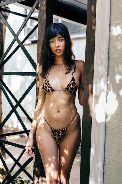 Miya Cheetah Micro Bikini Bottom