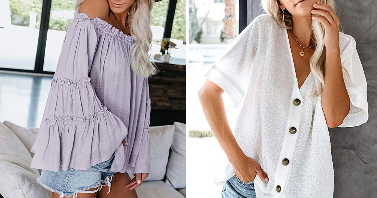 28 Comfortable Tops That Look Good On Everyone & Are All Under $30 On Amazon