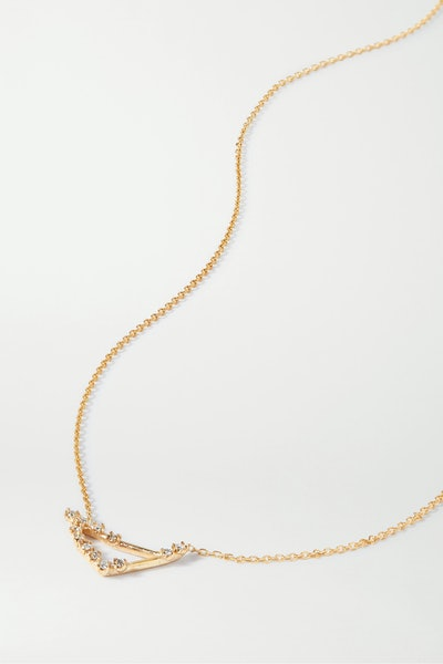 Celestial Capricorn 10-Karat Gold Diamond Necklace
