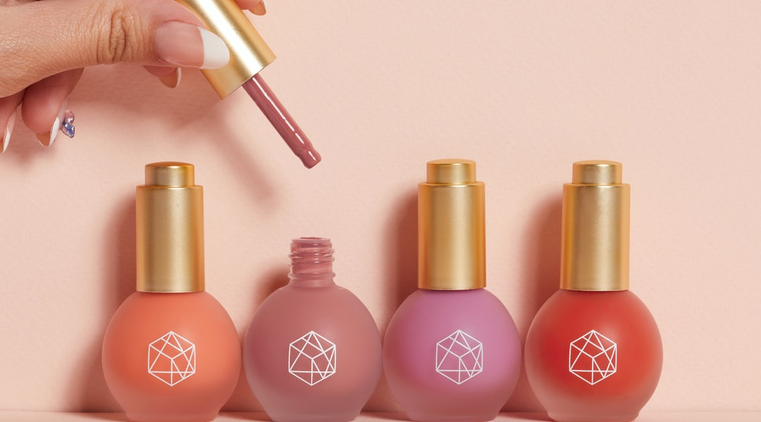 EM Cosmetics' four new Color Drops Serum Blush shades.