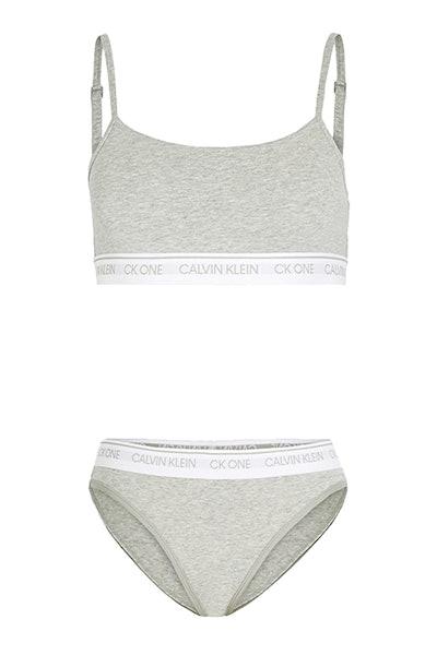 Calvin Klein Underwear CK One Cotton Unlined Bralette and Bikini