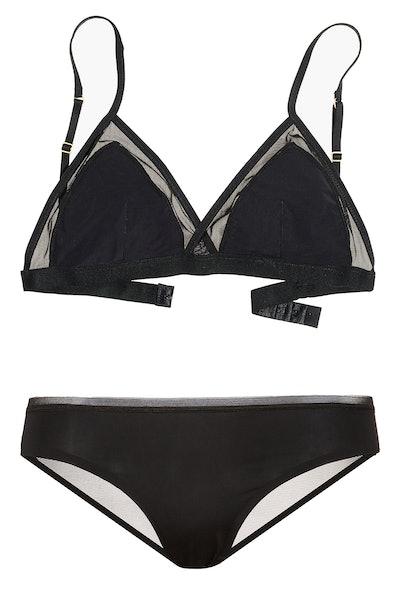 Madewell Mesh-Trimmed Michele Bralette and Cotton Bikini Brief