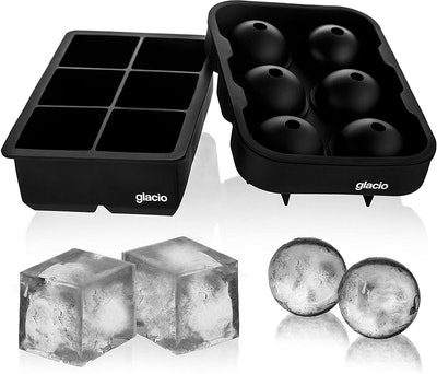 Glacio Ice Cube Trays Silicone Combo Mold (2-Pack)