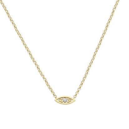 """Mini Macu"" Yellow Gold and Diamond Necklace"