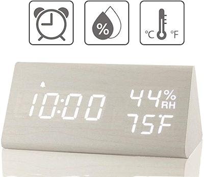 JALL Digital Wooden Alarm Clock