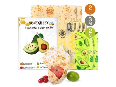 HONEYALLEY Reusable Beewax Food Wrap  (7-Pack)