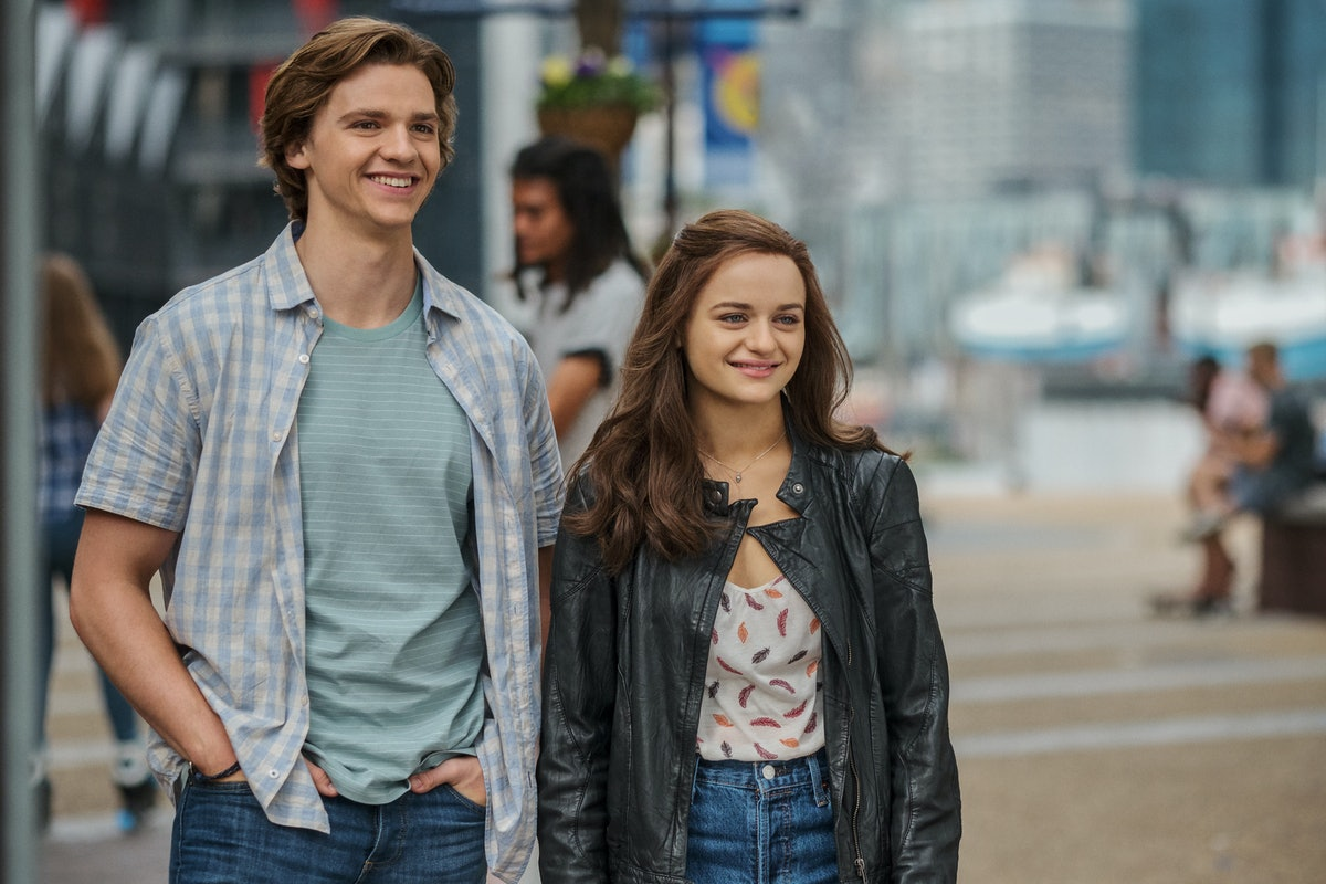 Joel Courtney as Lee Flynn and Joey King as Shelly 'Elle' Evans in 'The Kissing Booth 2'