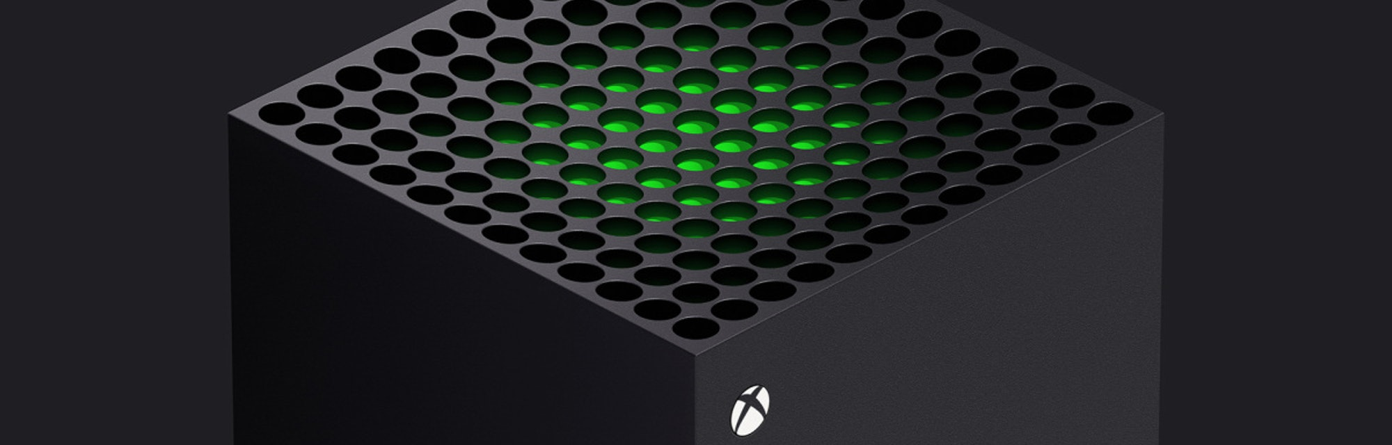 Close-up of the top of the Xbox Series X