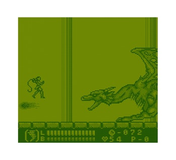 A green-tinted game screen.