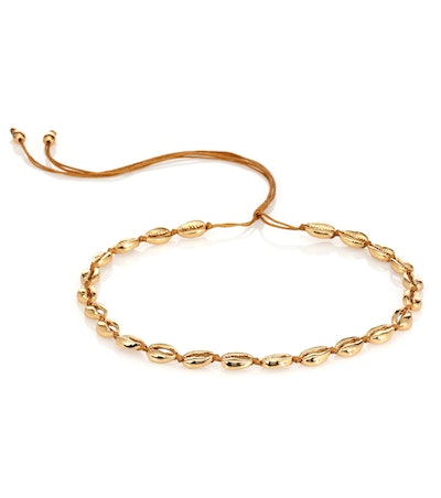 Concha Puka 22kt Gold-Plated Necklace