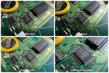 The OnePlus Nord smartphone close-up shooting comparison photos.