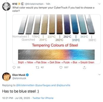 Elon Musk's declaration.