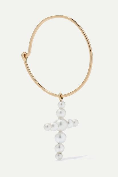 Fellini 14-Karat Gold Pearl Earring
