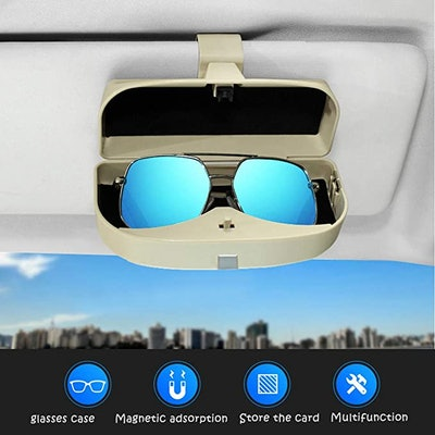 Dualshine Sun Visor Glasses Case Holder
