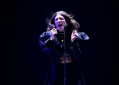 Lorde Performs at Melodrama World Tour at Barclays Center on April 4, 2018 in New York City.