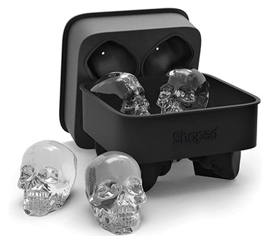 Shaped 3D Skull Flexible Silicone Ice Cube Mold Tray