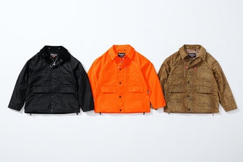 Different colorways of Supreme's waxed jacket.