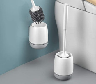 Carwiner Silicone Toilet Brush and Holder (2-Pack)