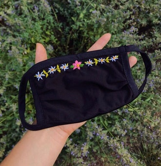 Embroidered Fabric Mask