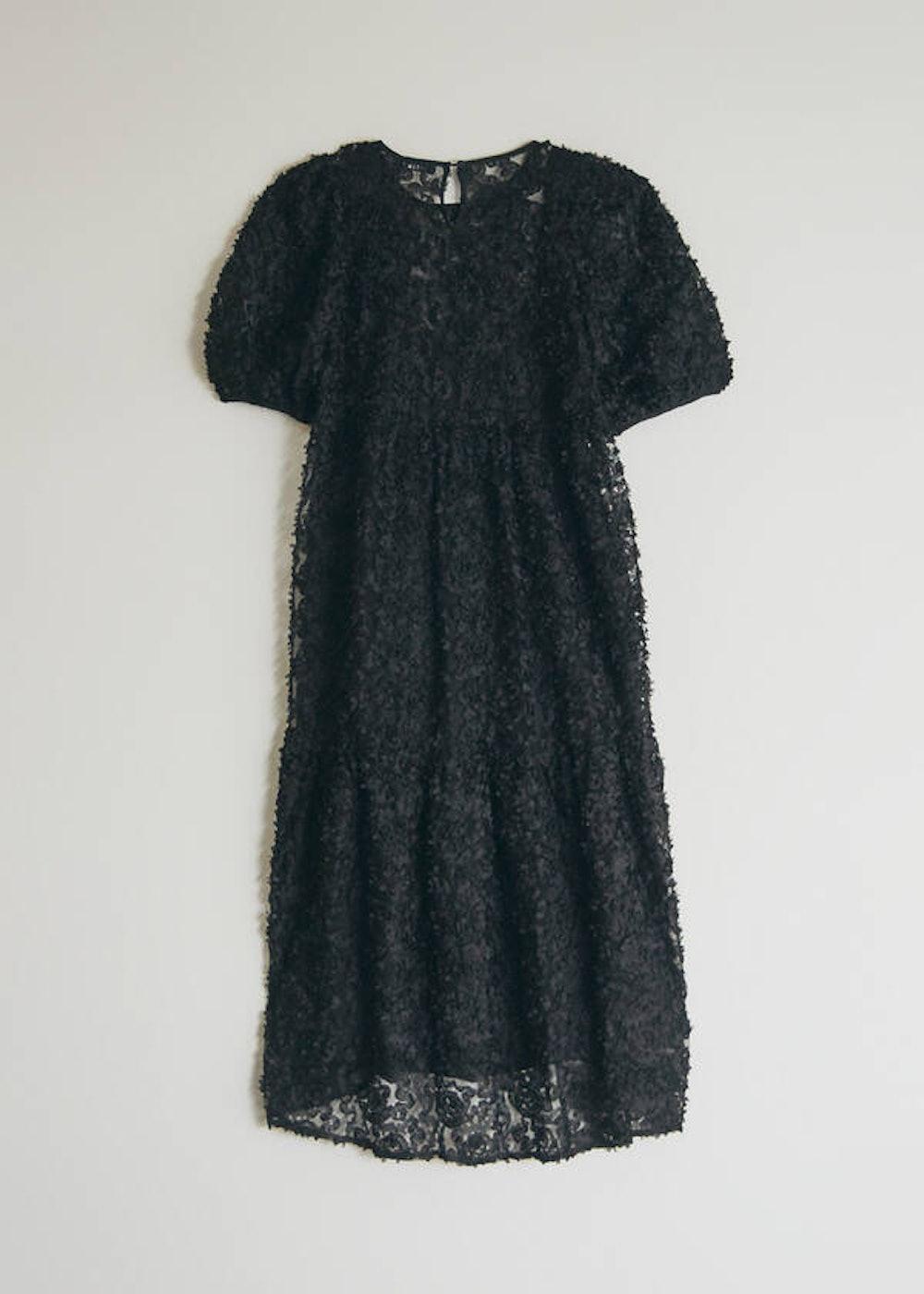 Auriele Midi Dress in Black