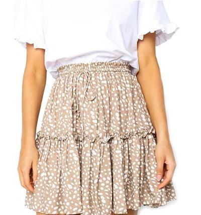 Relipop Women's Flared Short Skirt