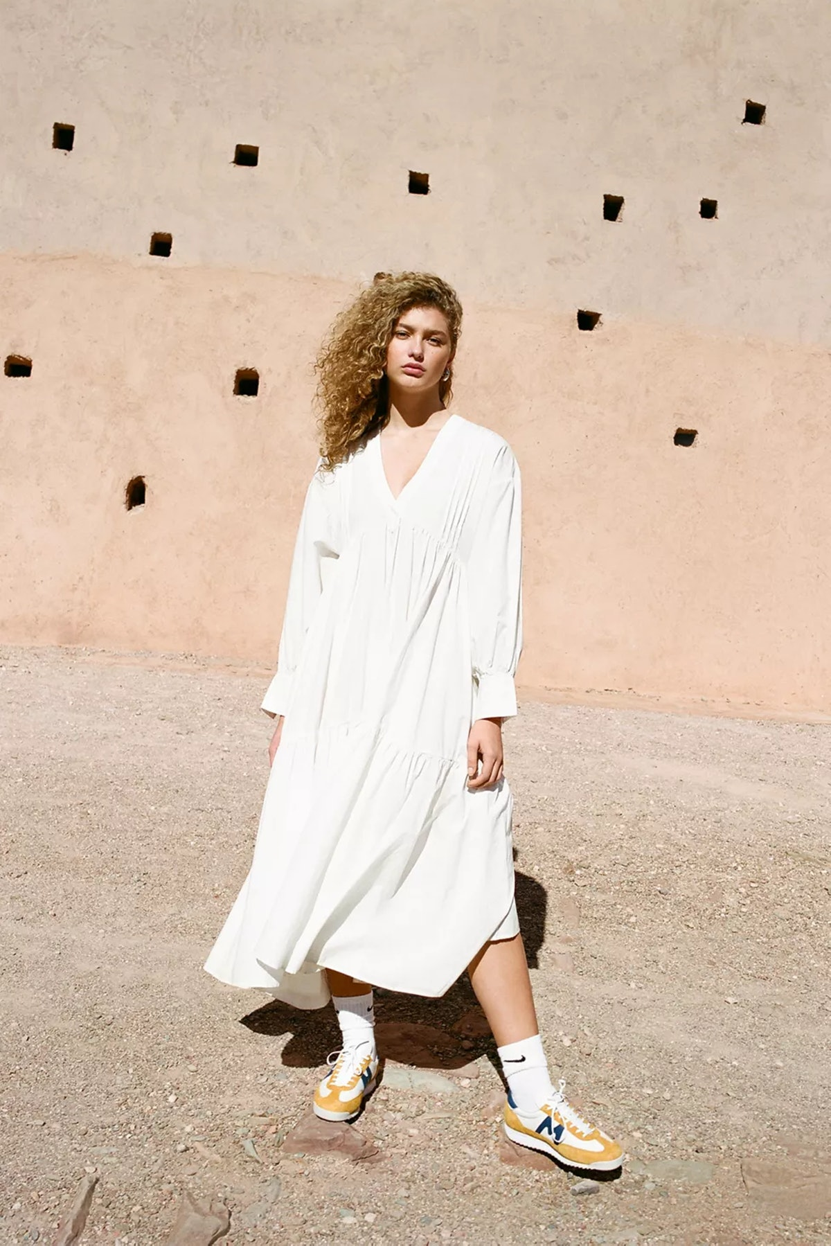 UO Coffee Date Long Sleeve Maxi Dress