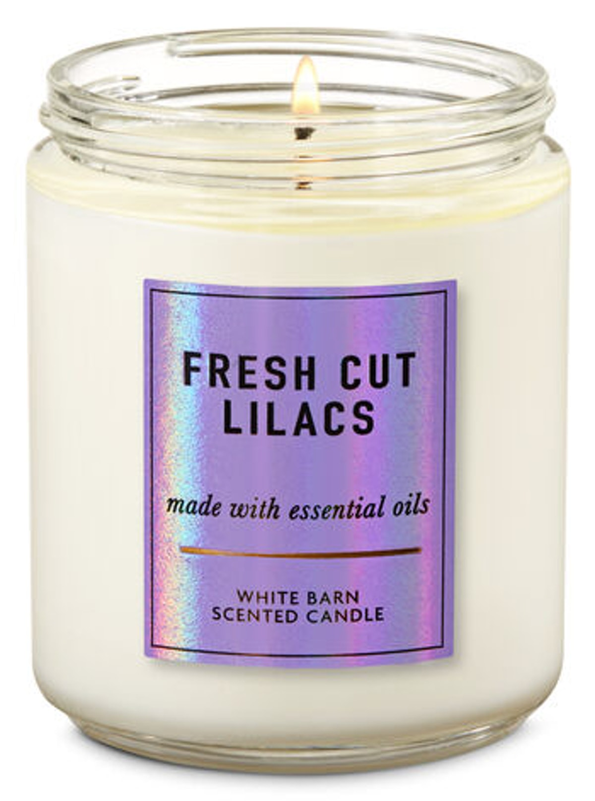 Fresh Cut Lilacs Single Wick Candle