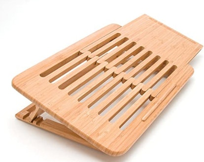 Bamboo Wood Expandable Laptop Stand