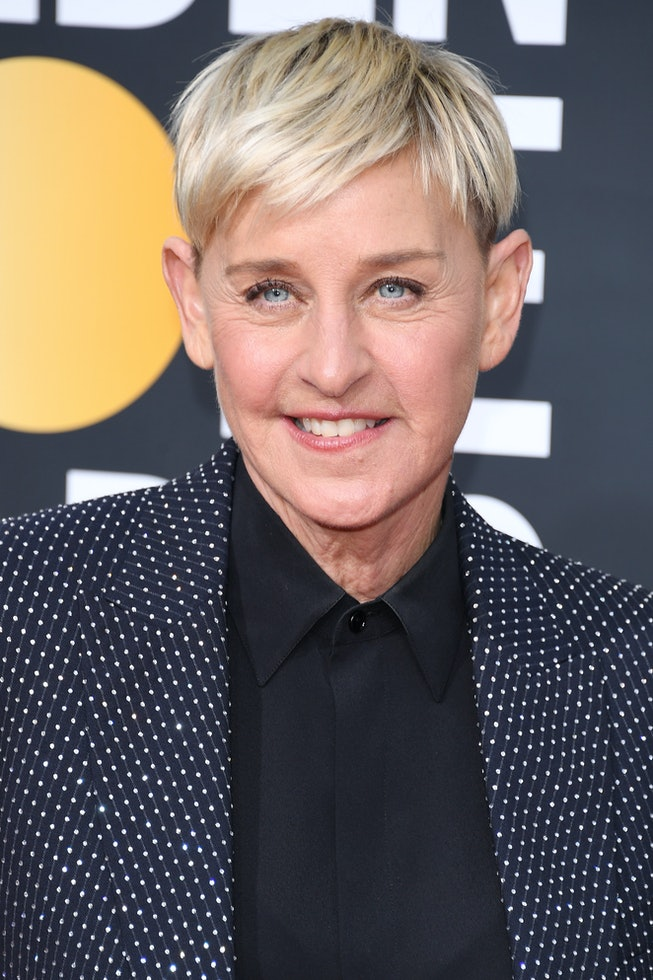 Ellen DeGeneres attends the 77th Annual Golden Globe Awards at The Beverly Hilton Hotel on January 05, 2020 in Beverly Hills, California.