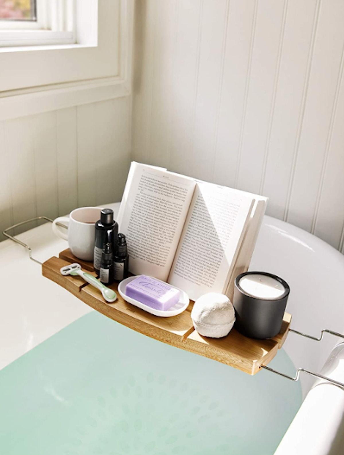 Umbra Aquala Bamboo Luxury Bath Caddy