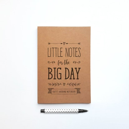 Personalised Little Notes For The Big Day Notebook