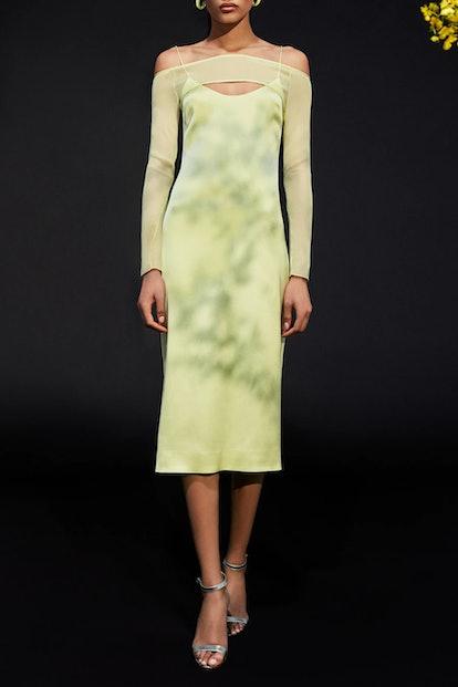 Celery Chiffon Dress