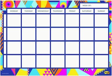 Post-It Weekly Wall Calendar